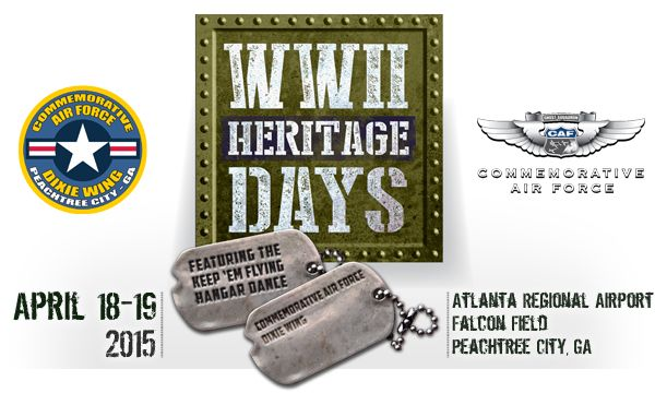 "Experience the sights and sounds of World War II when the Commemorative Air Force (CAF) Dixie Wing hosts the 12th Annual WWII Heritage Days April 18-19, 2015 The event will be held Saturday and Sunday 11:00 AM – 4:00 PM at the CAF Dixie Wing Historical Airpower Facility, Falcon Field.  We bring together re-enactors, WWII vehicles, vintage aircraft, authors, WWII Veterans and exhibits as a living history experience for the entire family. ""WWII Heritage Days"" is a community celebration that…"