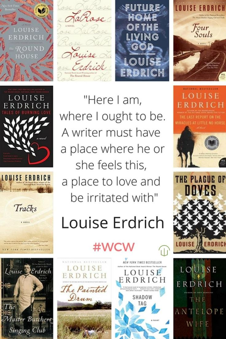 This week's #WCW is American writer, Louise Erdrich. Erdrich's novel The Plague of Doves was a finalist for the Pulitzer Prize for Fiction in 2009, and in 2012, The Round House received the National Book Award for Fiction. She is an enrolled member...