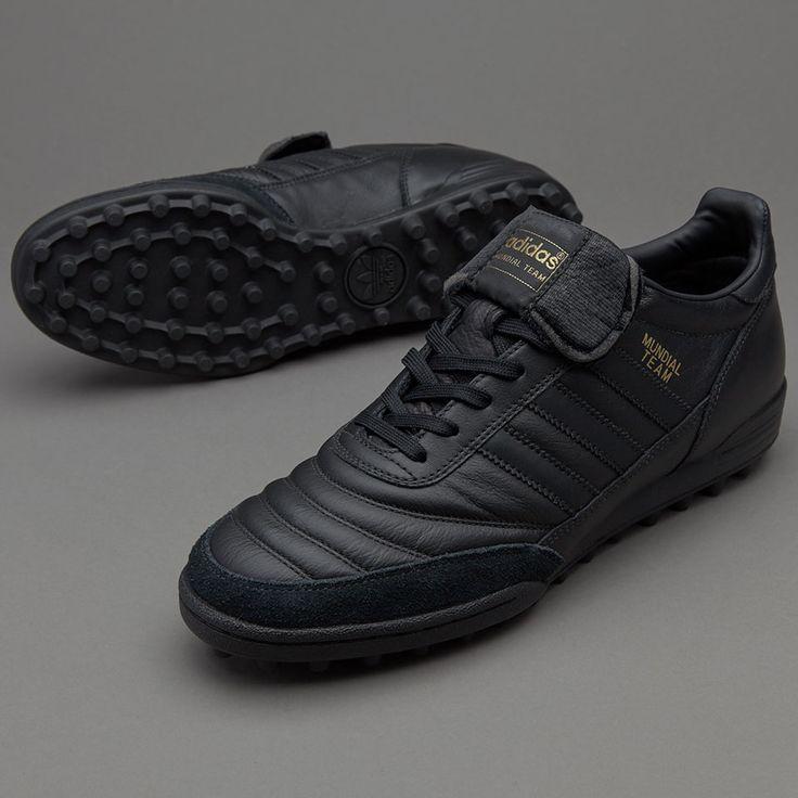 adidas Mundial Team - Mens Boots - Indoor - Core Black/Gold Metallic