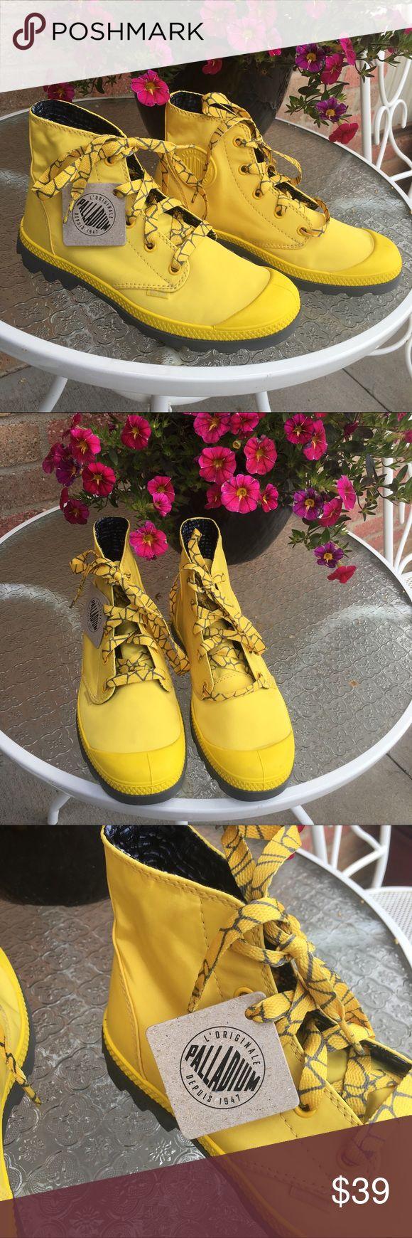 Amazing Palladium Flex Lace M Women Textile Yellow Sneakers Athletic