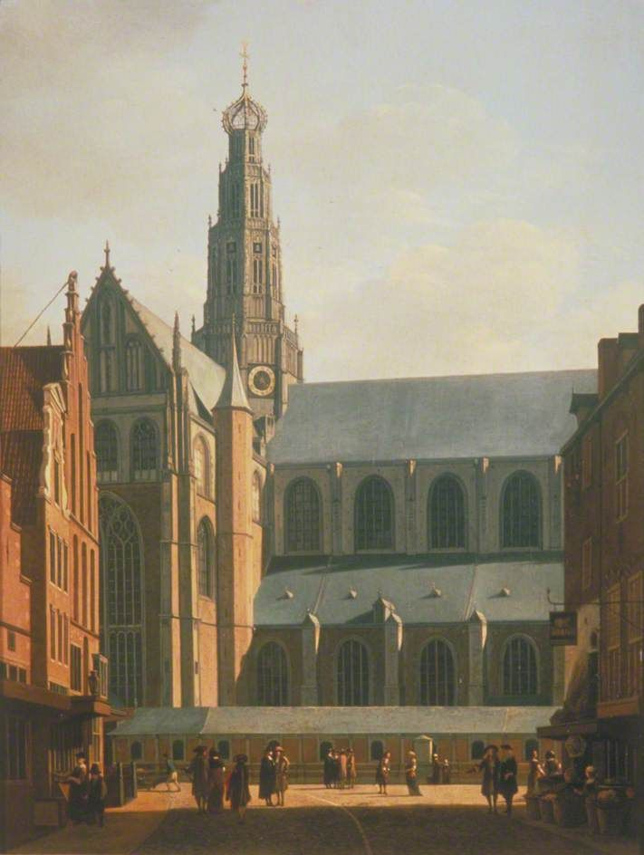 The Smedestraat with a View of the Grote Markt and St Bavo's Church, Haarlem, Holland by Gerrit Adriaensz. Berckheyde   City of London Corporation Date painted: 1660–1670