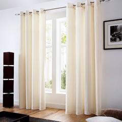 Eyelet Cream Velvet Ready Made Curtain Pair