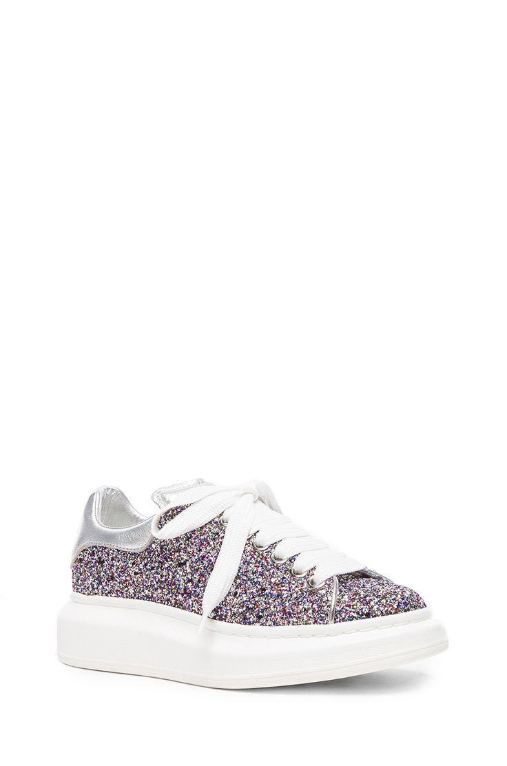 Image 2 of Alexander McQueen Glitter Sneakers in Multi