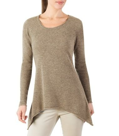 Cashmere & Merino Asymmetric Top for Women