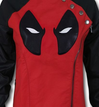 Images of Deadpool Side Zip Moto Women's Jacket