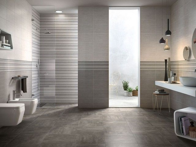 119 best images about rivestimenti bagno on pinterest surf summer and design for Bagno moderno grigio
