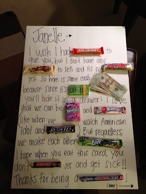 Janelle's Candy Thank You Note