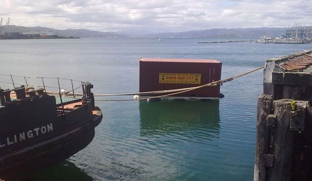 wellington harbour shipping container