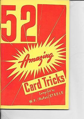 W.F. RUFUS STEELE 52 AMAZING CARD TRICKS BOOK Collectibles:Fantasy, Mythical & Magic:Magic:Books, Lecture Notes www.webrummage.com $12.99