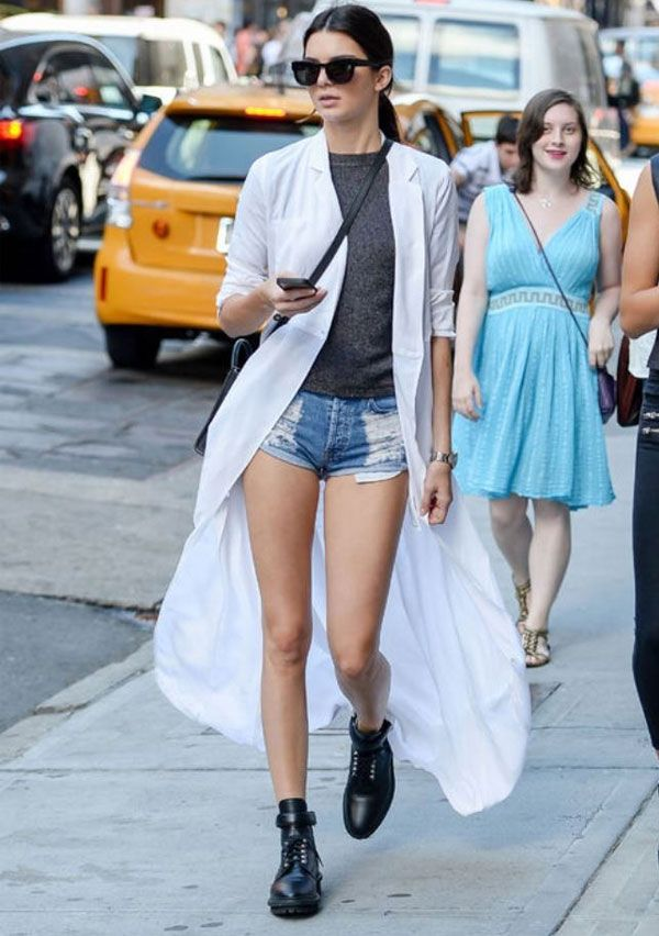 kendall jenner maxi cardigan street style