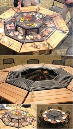 A Grill that Can Serve as a Fire Pit and Table Too!! OMG I want this :)