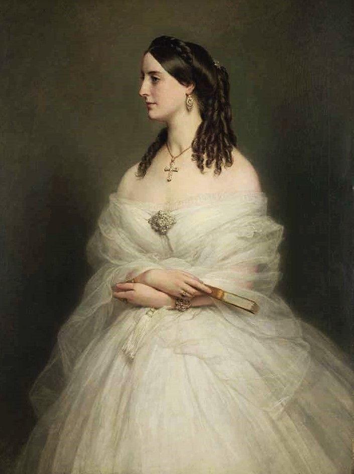 Portrait of Mrs Vanderbyl by Franz Xavier Winterhalter