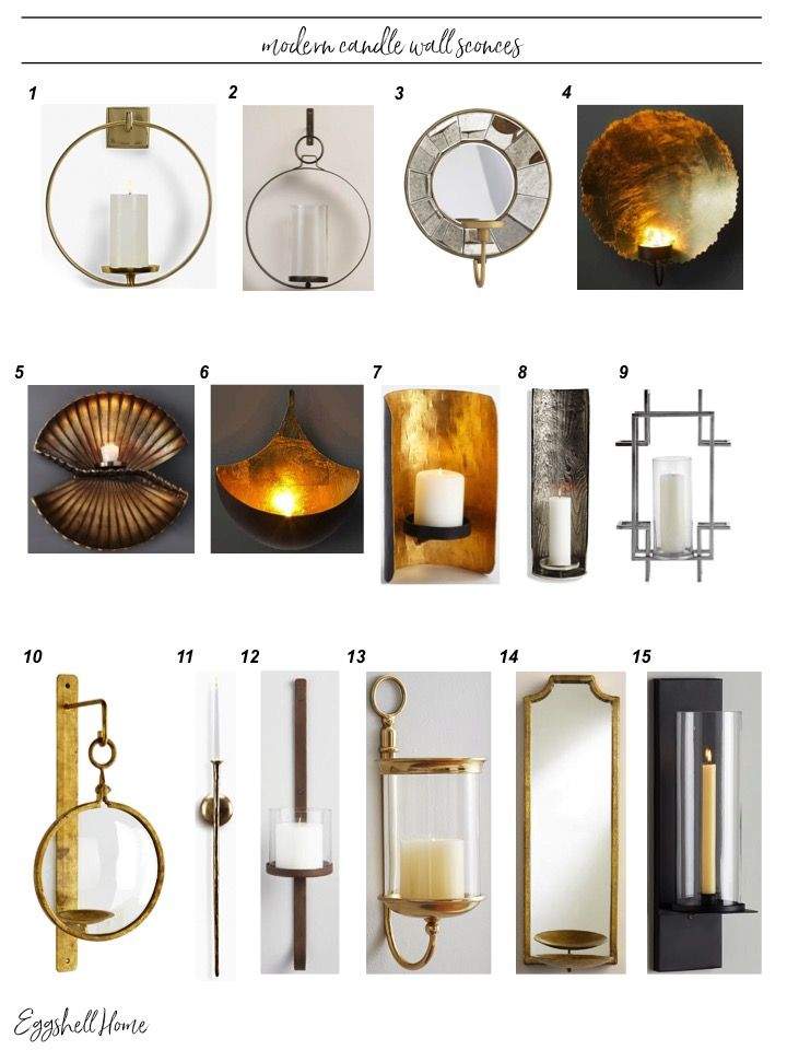 Eggshell Home - Best Modern Candle Wall Sconces Round Up. See them all on the blog.
