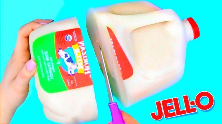 DIY Giant Milk Jelly Gummy Jug! Jello Milk Gallon!