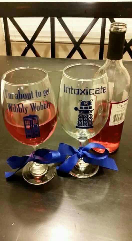Doctor Who wine glasses