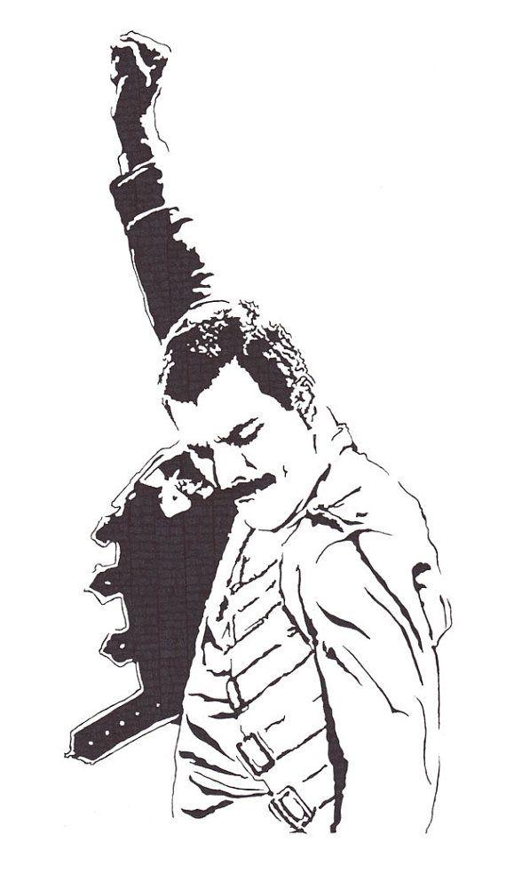 Freddie Mercury - Lead Singer of Queen - Original Illustration