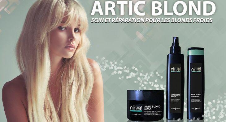 Zadbaj o swój blond. Zachowaj chłodny odcień na dłużej. Maska, spray i szampon tonujący do włosów blond. Artic Blond Nirvel