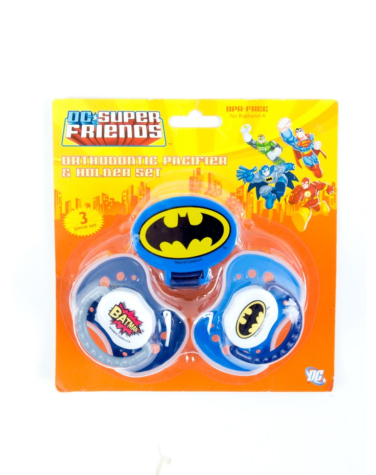 Batman Pacifiers 3 Pk - I love Batman.