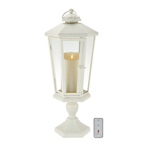 "Luminara 21"" Windsor Lantern with Pedestal Flameless Candle ($84) ❤ liked on Polyvore featuring home, home decor, candles & candleholders, luminara, luminara flameless candles and luminara lantern"