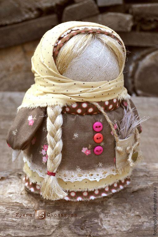 Купить Хозяюшка с сумочкой - коричневый, кукла ручной работы, оберег, оберег для дома, обереги в подарок