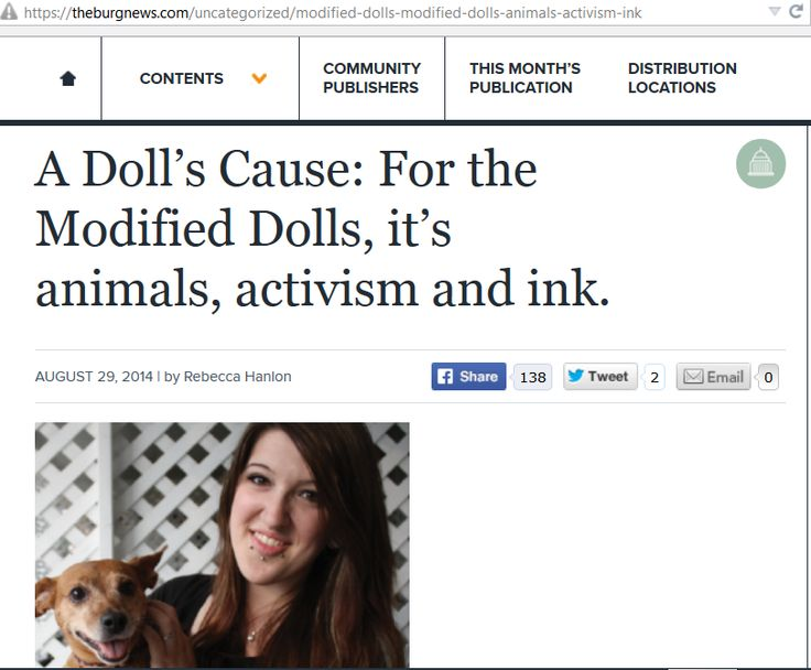 The The Pennsylvania Modified Dolls  were published in The Burg in August 2014 https://theburgnews.com/uncategorized/modified-dolls-modified-dolls-animals-activism-ink You can find their Facebook page here:  https://www.facebook.com/PADolls #modifieddolls #PAmodifieddolls #modifiedwomen #supporting #charities #fundraising #modified #females #tattooed #pierced #published #raisingawareness #animals #activism