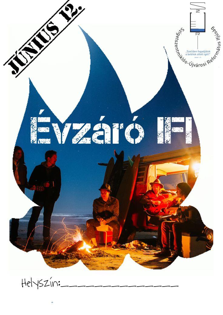 Saját készítésű plakátok || Évzáró ifi My posters, event flyers || End of Year Youth Event