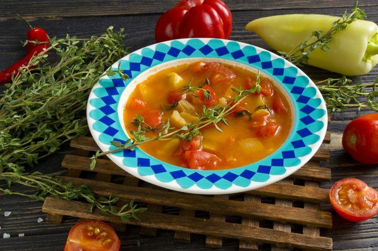 Томатный суп с болгарским перцем и тимьяном. Пошаговый рецепт с фото - Ботаничка.ru