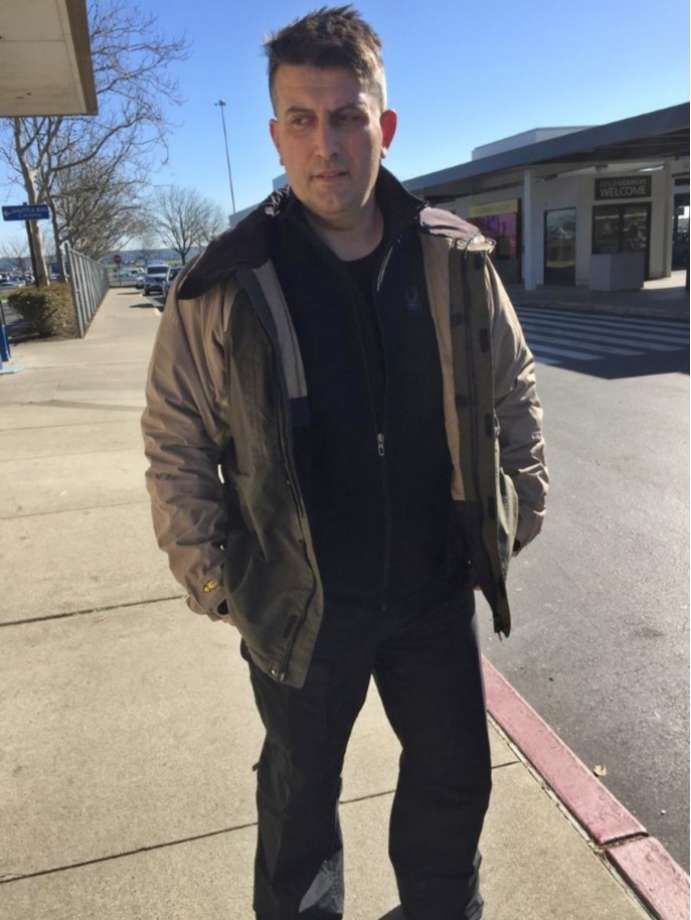 In this Feb. 13, 2018 photo provided by the Sacramento County Sheriff's Department in Sacramento, Calif., via the New York State Police, Constantinos (Danny) Filippidis is shown. Filippidis, who went missing while skiing in Lake Placid, N.Y., on Feb. 7, 2018, was found at a California airport six days later. The 49-year-old captain with Toronto Fire Services told police he did not recall the circumstances of his departure from New York, but recollected traveling to Sacramento in a big rig…