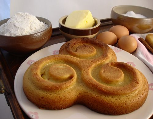 Gateau Breton  - A rich, buttery cake, traditional to the Brittany region of France.
