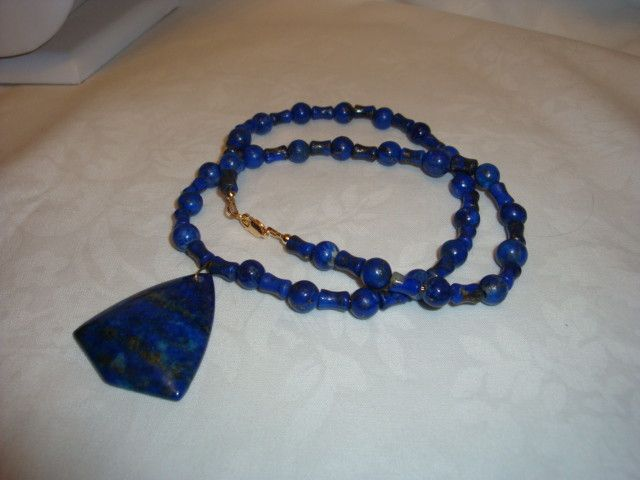 LAPIS LAZULLI PENDANT NECKLACE
