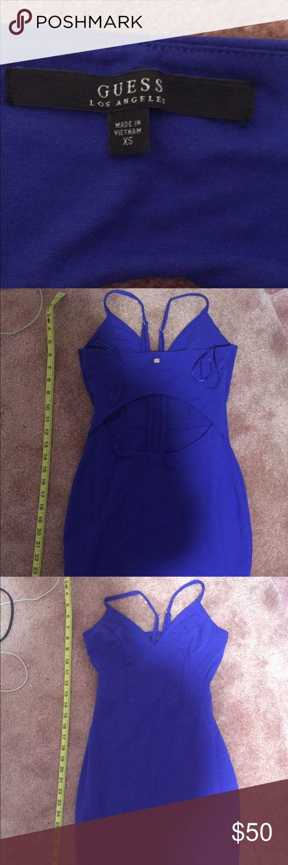 Royal blue Guess dress Cotton. Skin tight. New. GUESS dress. XS Guess Dresses