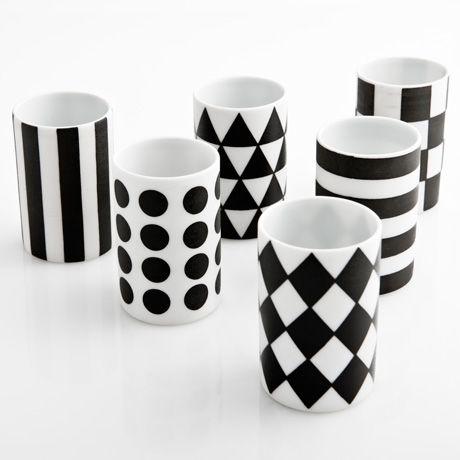 // mori mini cup: Mori Mini, Cups, Black And White, Black White, Minis, Kitchen, Poketo Mori