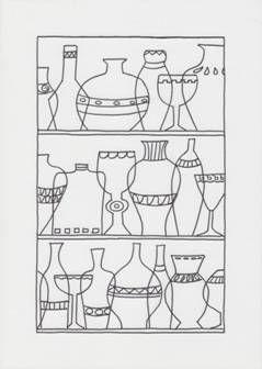Barevné vázy a sklenice