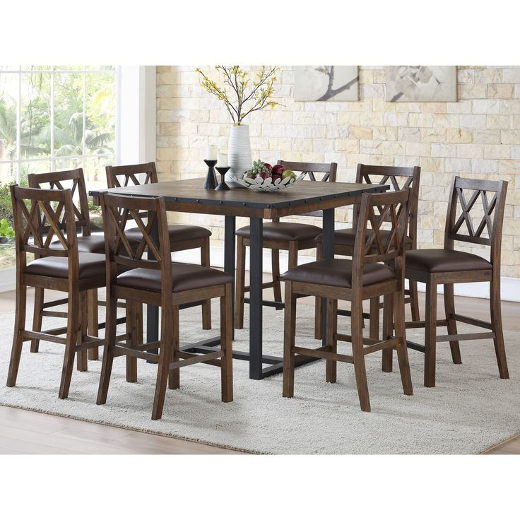 46 Popular Farmhouse Dining Room Design Ideas Trend 2019: Lasalle 46-Inch Square Counter Height Dining Set By