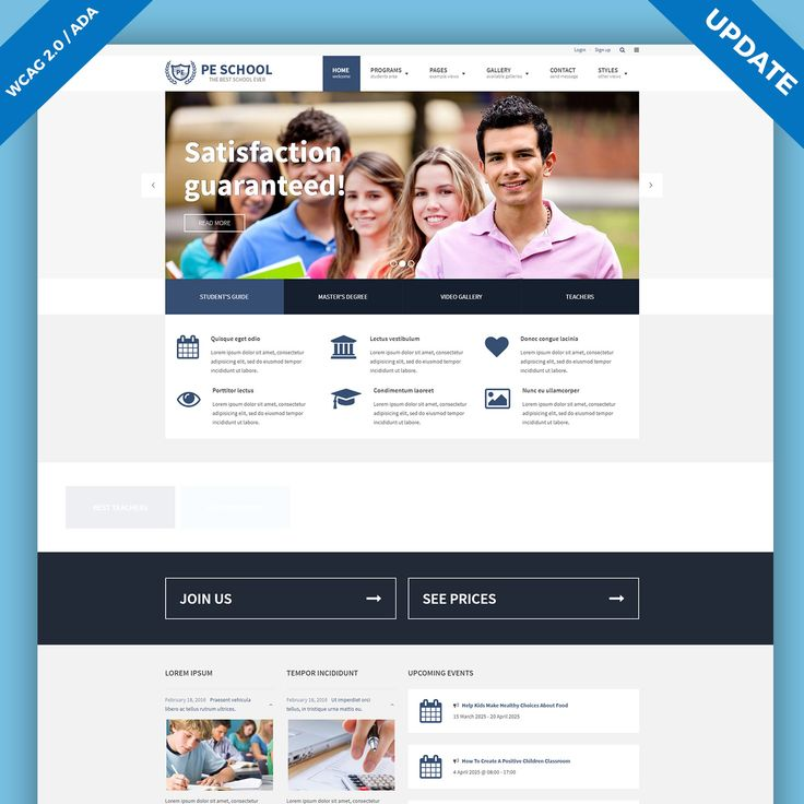 We've updated School, WordPress WCAG 2.0 compliant theme. The new version brings  changes: Improvements in the gallery shortcode,search results, related to program pages, breadcrumbs, WCAG 2.0 /ADA / Section 508 improvements and more! #WordPress #theme #WCAG #services #gallery #ADA #Section508