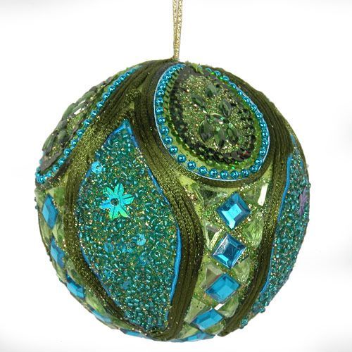 Aqua  Green Ornament Ornaments Pinterest Peacock christmas