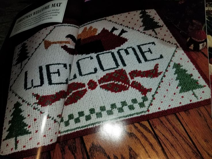 Deck the Halls in Plastic Canvas Book 3, Christmas Welcome Mat