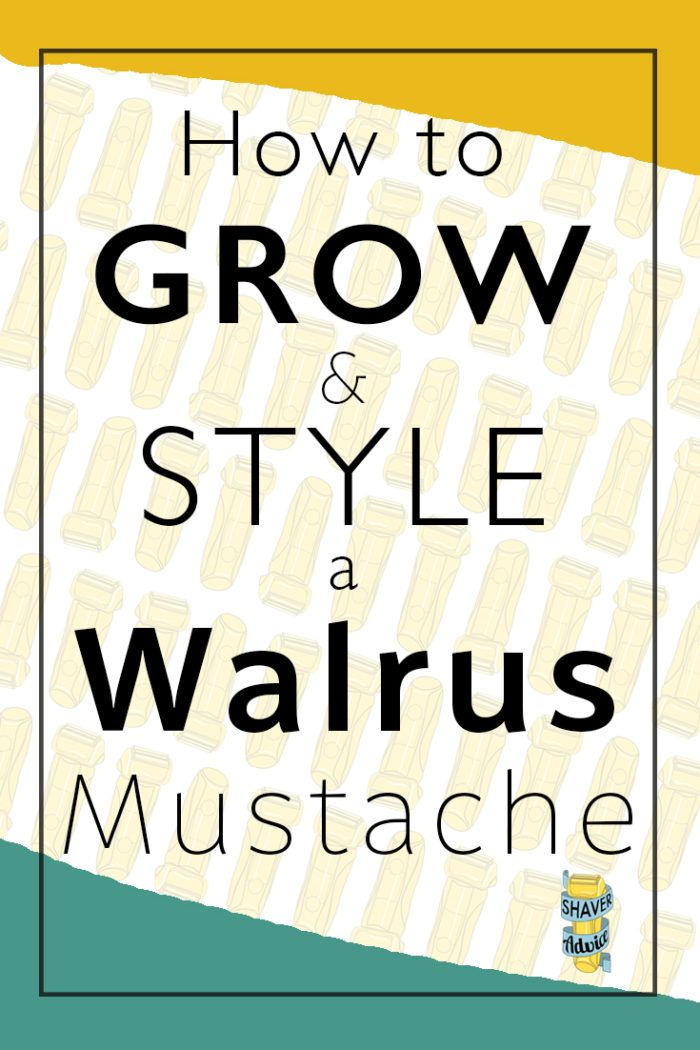 Walrus Mustache: How to grow and style a walrus mustache | Facial Hair Styling | Moustaches | Click through for MORE!