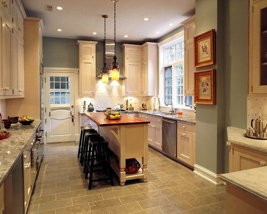 Blue Green Brown Cottage Living Room Design Pictures