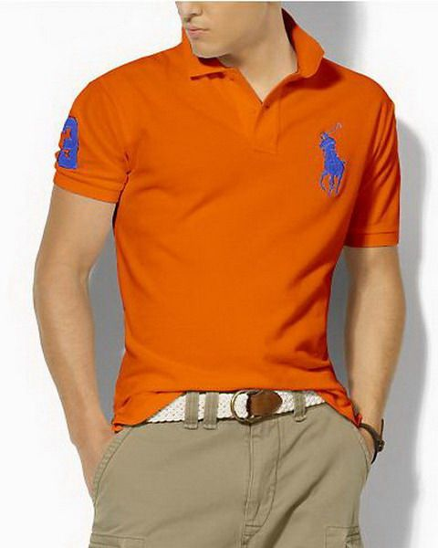 Ralph Lauren Custom Fit Big Pony Polo Shirt Orange http://www.hxzyedu · Polo  Ralph Lauren OutletCheap ...