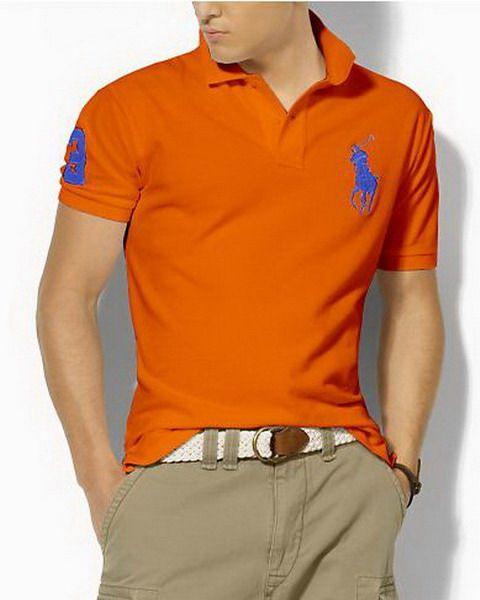 polo ralph lauren clearance Custom Fit Big Pony Polo Shirt Orange http://poloshirtsmall.co.uk/