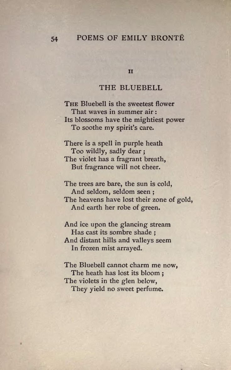 Emily Bronte, The Bluebell