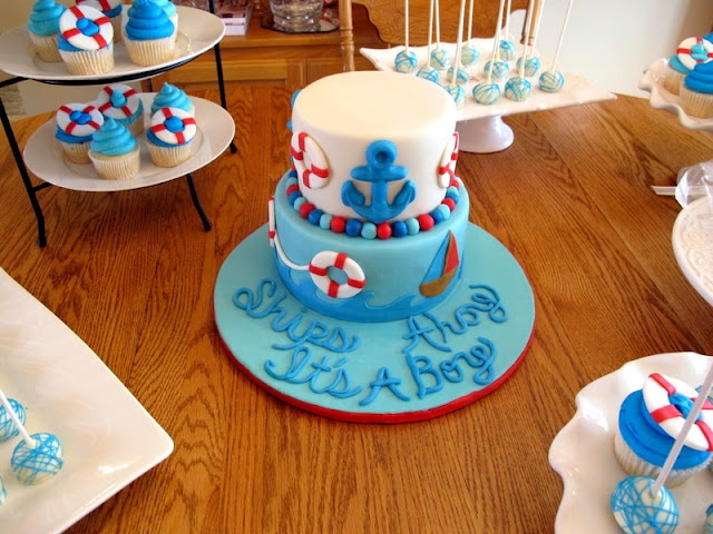 Images Of Nautical Baby Shower Cakes