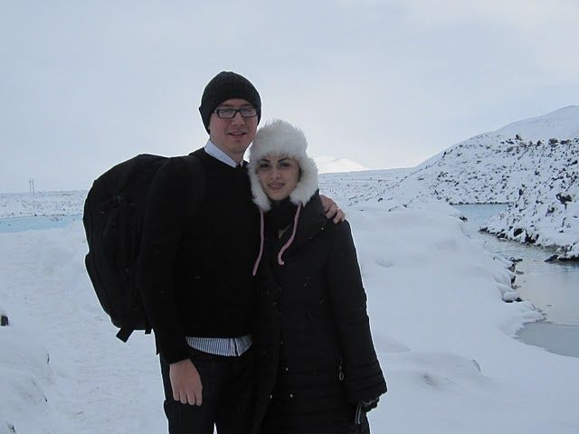 Michelle and Dan packed their bags and headed to Iceland, where the plane fares were cheap, hot springs were hot, and the snow was abundant...