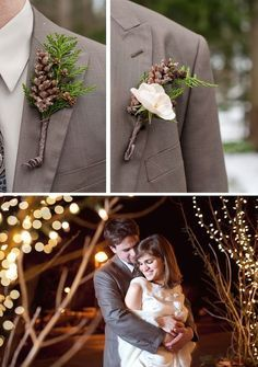 Ideeën corsage bruidegom en zijn bruidsjonkers te vallen (of een bos, bijvoorbeeld) bruiloft. En een master class.