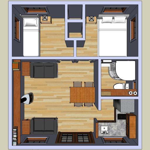 tiny/small 2 bedroom