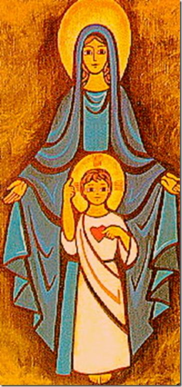 The Beautiful Maiden of Nazareth and her Son Jesus