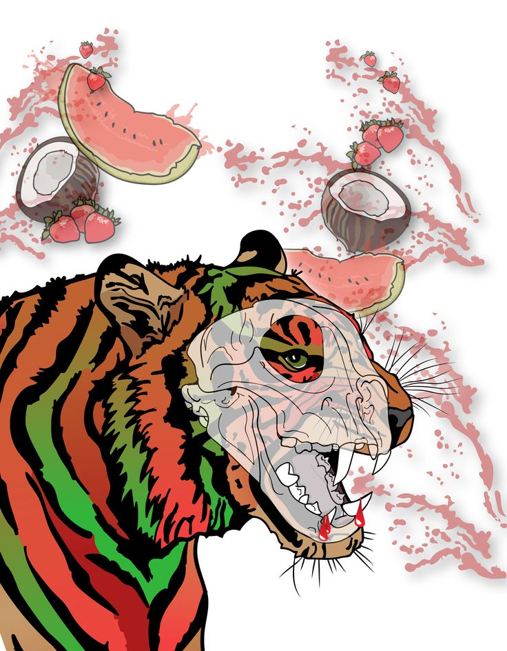I have submitted entries in the Mike's Harder, can illustration contest! Watermelon, Coconut and Strawberry colored Tigers! The prize is awesome and I deserve it!