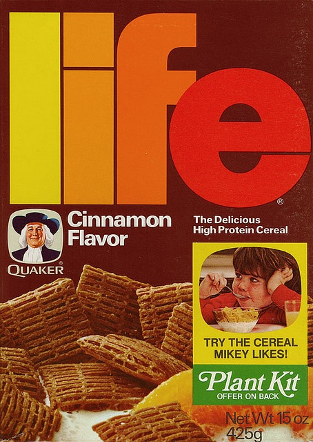 Cinnamon Life!: Vintage Cereal, Cinnamon Cereal, Life Cinnamon, Kits Offer, Cereal Boxes, Colors Schemes, Plants Kits, Cinnamon Life, Photo