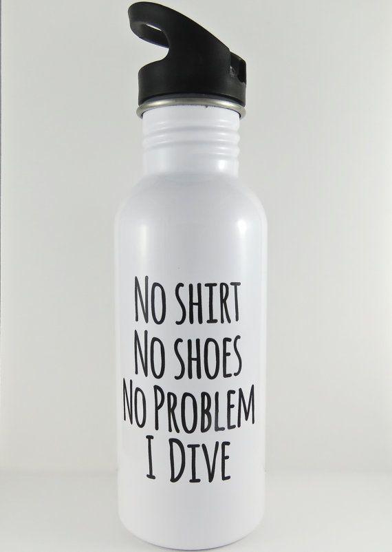 zambullidor de la botella de agua botella de agua por QuipsAndGrins
